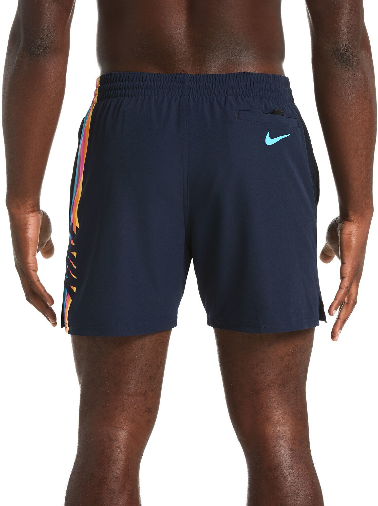 3076520be6 Nike Swim Retro Stripe Lap 5 Volley Shorts Men obsidian at Addnature ...